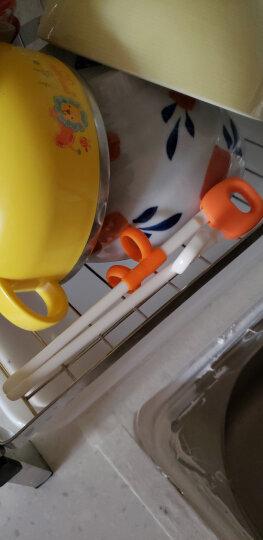 日康(rikang)不锈钢餐具套装 碗 不锈钢保温碗 宝宝婴儿辅食碗 不锈钢婴儿勺子 宝宝餐具 三3件套装 黄蓝 晒单图