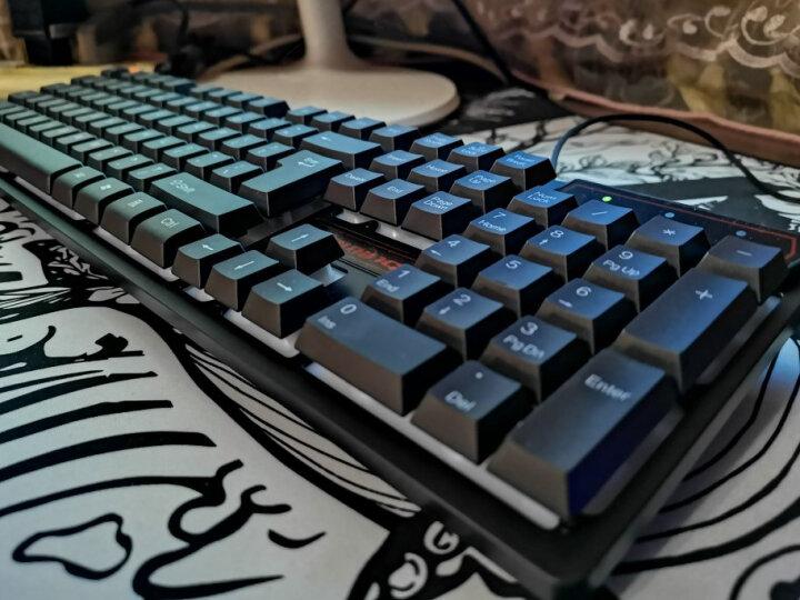 优想U815 混光104键机械键盘 青轴 笔记本电脑办公游戏键盘 有线LOL/绝地求生吃鸡键盘 黑 晒单图