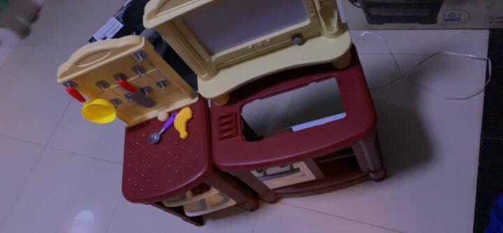 贝恩施 儿童玩具过家家玩具女孩男孩玩具角色扮演厨房玩具套装 单面厨房真实出水 红色 晒单图