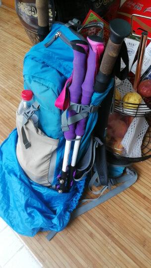 NH挪客户外登山杖碳素轻便 外锁三节徒步手杖爬山拐杖碳纤维伸缩 白紫色 晒单图