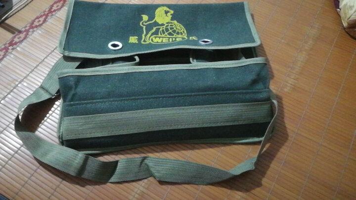威氏 双层三层特厚电工包 单肩式工具包 工具袋 工具挎包 帆布包 电工袋 大号双层40cm 晒单图