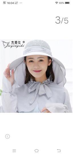 杰英仕遮阳帽子女防晒防紫外线太阳帽护颈户外骑行凉帽套装 圆点皮粉色(帽+口罩+披肩) 晒单图