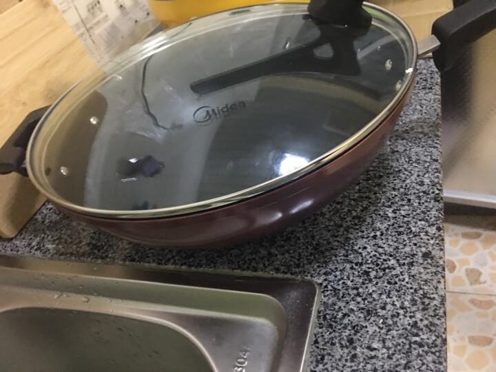 美的CJ32WOK303不粘锅聪明眼家用电磁炉燃气灶通用炒锅平底不粘锅 晒单图