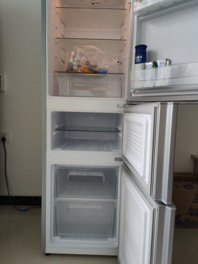 康佳(KONKA)192升 三门小冰箱 家用小型 电冰箱 软冷冻室 节能保鲜 静音省电(银色)BCD-192MT 晒单图