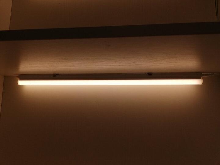 雷士(NVC)雷士照明1.2米LED灯管T5无影灯管一体化T5支架套装14W暖黄光3000K 晒单图