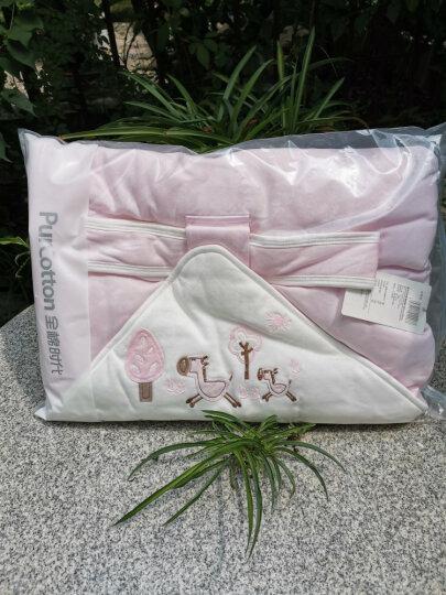 全棉时代 婴儿抱被秋冬宝宝纯棉针织抱被90*90cm 粉色小马 1件/袋 晒单图