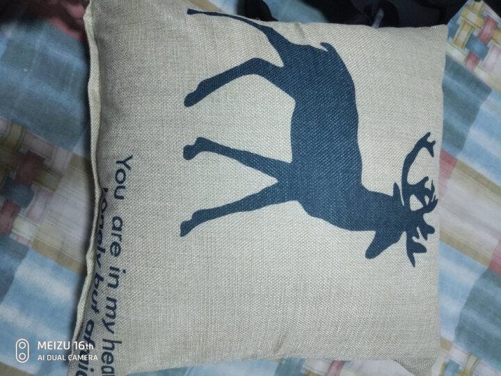 艾薇抱枕家纺 卡通亚麻风格沙发靠垫办公室靠枕午睡趴枕床头靠背腰枕含芯 率真小鹿 40x40cm 晒单图