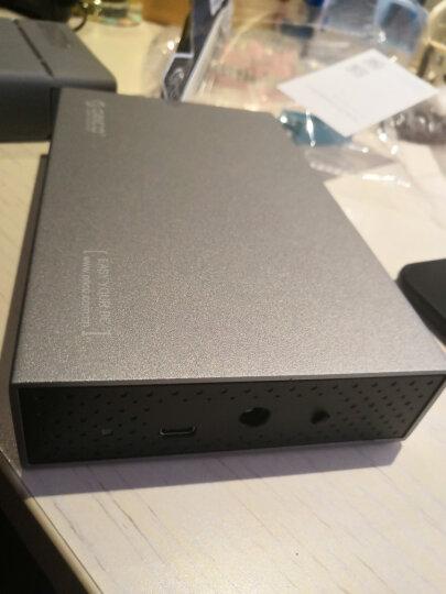 奥睿科(ORICO)移动硬盘盒3.5英寸Type-C SATA串口笔记本台式机硬盘外置盒子 全铝带电源  灰色3518C3 晒单图