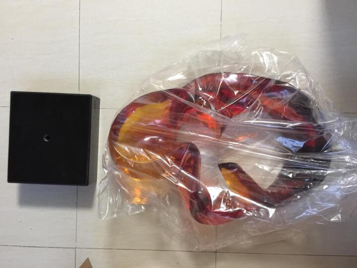 锦庐 抽象透明雕塑装饰品酒店玄关软装简约摆件现代家居客厅琉璃工艺品 ST741 橙红色 晒单图