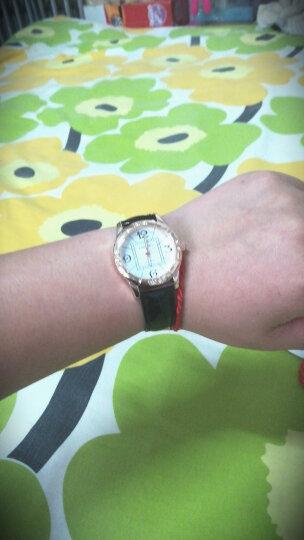 手表可爱时尚夜光手表皮带表防水女士手表女高中学生韩版简约潮流 流动走珠款—红色(送黑色表带) 晒单图