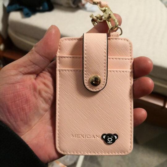稻草人(MEXICAN)女士卡包薄款驾驶证信用卡门禁公交卡套证件夹可爱包包挂件MXD20125L-06粉红 晒单图
