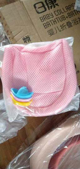 日康(rikang) 浴盆 婴儿洗澡盆婴儿浴盆 新生儿宝宝洗澡盆带浴床 坐躺两用 加大加厚适用0-6岁 米色 RK-3626 晒单图