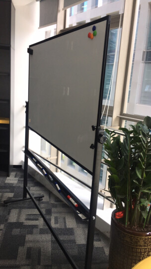 得力(deli)支架式白板150*90cm办公商务会议H型白板 可移动搪瓷写字板黑板7888 晒单图