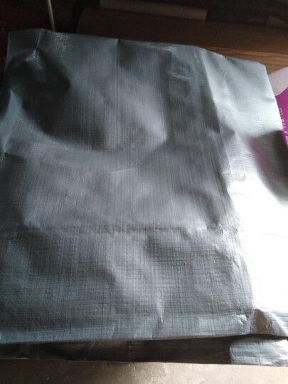 海象人 户外遮阳布加厚货车帐篷布油布苫布塑料遮雨防雨布彩条布雨棚布篷布防水防晒蓬布包邮 军绿银4x10米 晒单图