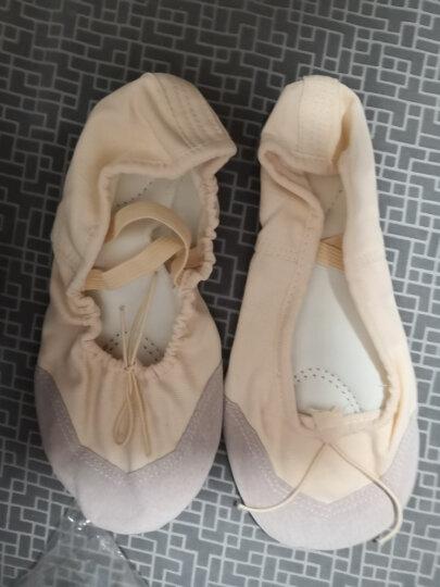 艾舞戈 儿童舞蹈鞋软底跳舞鞋少儿芭蕾舞鞋成人练功鞋瑜伽体操鞋猫爪鞋 精品款-粉色 43 晒单图