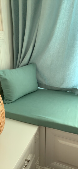 爱结晶 飘窗垫窗台垫定做卧室美式卡坐垫订做田园榻榻米简约现代阳台垫子 45*45尺寸抱枕 晒单图