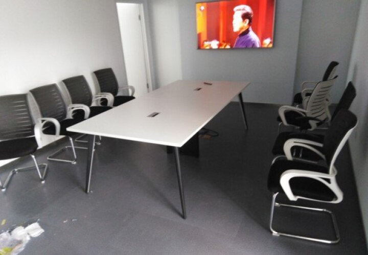 简枫办公家具 办公桌椅组合 职员办公桌椅 员工桌6/4/2人位屏风办公桌 电脑桌 职员卡座 4人位 2400*1200 配柜子椅子(常规款) 晒单图