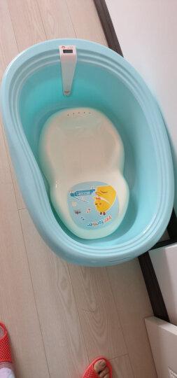 日康(rikang) 浴盆 婴儿洗澡盆婴儿浴盆 新生儿宝宝洗澡盆感温浴盆 坐躺两用 适用0-6岁浅蓝色 RK-X1003-3 晒单图