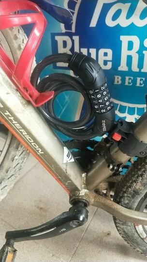 中立 87610密码圈型钢缆车锁 自行车锁 山地车公路死飞电动自行车通用车锁 条形防盗锁 金色 晒单图