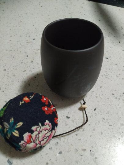 尚言坊茗器 便携紫砂茶叶罐小号迷你茶罐茶缸普洱茶叶盒陶瓷旅行密封罐储物罐家用 紫砂紫泥-小杯茶罐(12个装-茶叶款) 晒单图