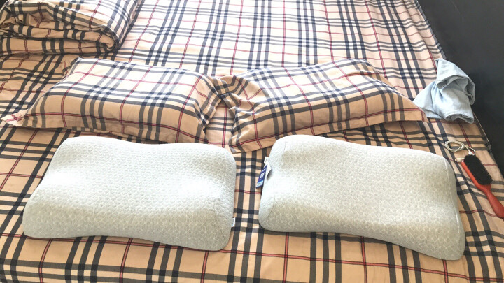 睡眠博士(AiSleep)枕芯 恒温零度绵舒睡记忆枕 枕芯 枕头 晒单图