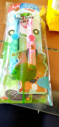 小树苗 儿童牙刷套装C 婴儿宝宝训练牙刷 软毛 2支装 蓝+粉 适合2-4岁 晒单图