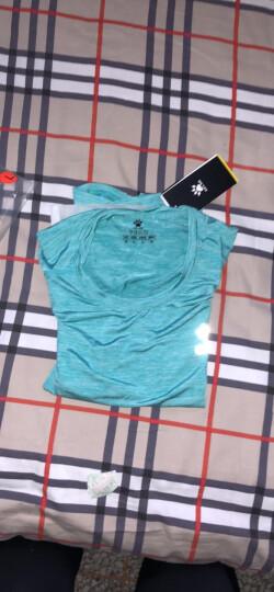 健身服女运动长袖卡尔美紧身衣显瘦跑步瑜伽T恤冬弹力健身衣 紫色 XXL/175/92A 晒单图