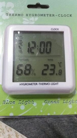雨花泽(Yuhuaze)迷你室内温度计 带闹钟日期电子温湿度计测温计湿度计 晒单图