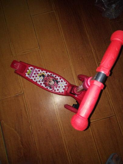 迪士尼(Disney)儿童滑板车 2-3-6-8岁小孩 闪光滑步车摇摆车 可折叠升降宝宝平衡车脚踏车 公主 晒单图