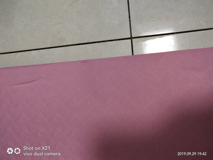 哈他专业瑜伽垫 加宽66cm环保TPE瑜珈垫男女 双面防滑运动健身垫  (中线款,送升级背包) 晒单图