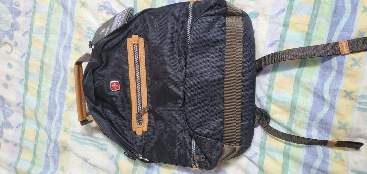 SWISSGEAR双肩包 韩版商务时尚休闲双肩背包14英寸笔记本电脑包男书包旅行包 SA-9909 黑色 晒单图