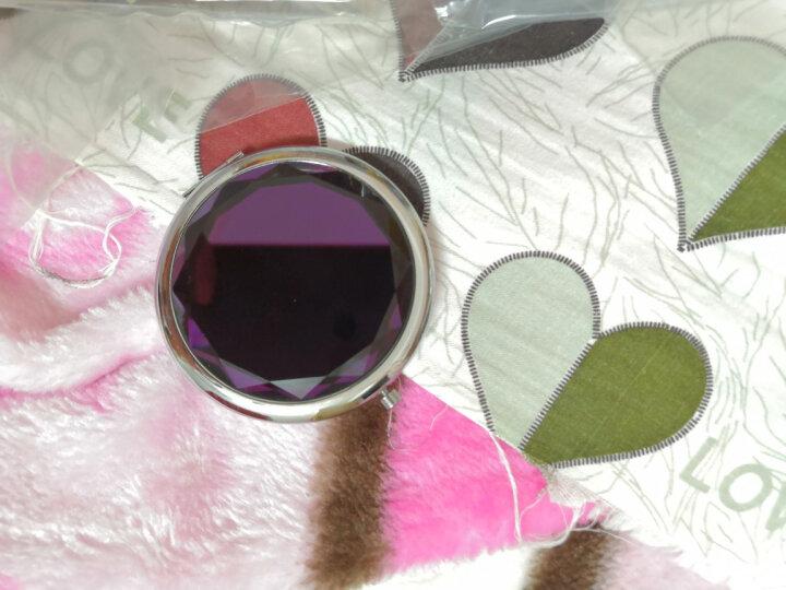 优家(uplus)时尚彩色便携式随身折叠双面化妆镜富贵紫色(新老包装随机发货)(梳妆镜 小镜子圆镜) 晒单图