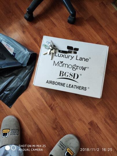 Luxury Lane真皮皮衣男士绵羊皮二战经典A2飞行皮夹克男装外套 加肥加大 深棕色 S美码尺码偏大 晒单图