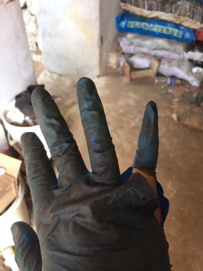 爱不释手 一次性丁晴丁腈劳保乳胶橡胶手套 防护防水耐油耐酸碱胶皮洗碗手套 M/中号 晒单图