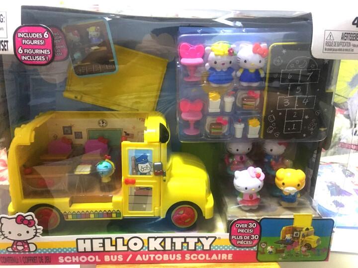 hello kitty玩具凯蒂猫女孩过家家玩具套装哈喽kt猫校车JADA救护车飞机玩具反斗城快餐车 校园巴士 晒单图