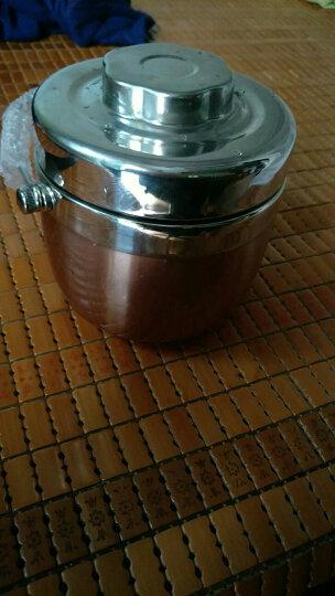沃德百惠 保温桶不锈钢保温提锅饭盒双层便当盒创意分格成人2层手提超长保温饭盒学生 1.5L玫瑰金 晒单图