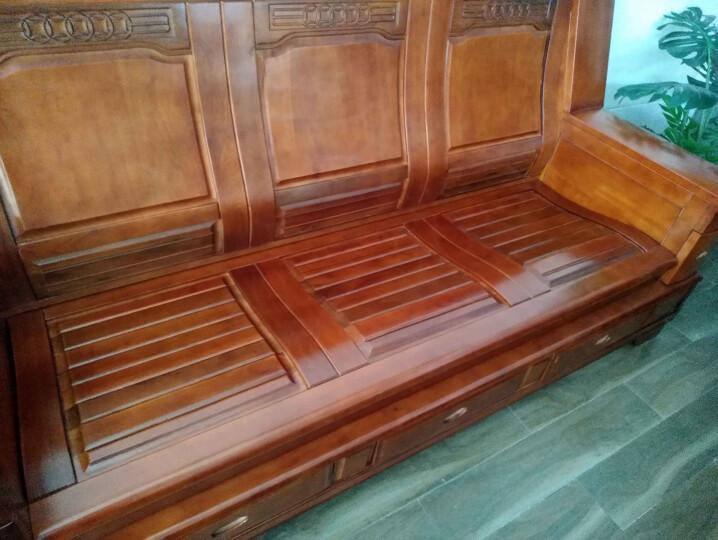 富野 实木沙发新中式香樟木沙发客厅组合双人位沙发单人三人位办公沙发 1+2+3 晒单图