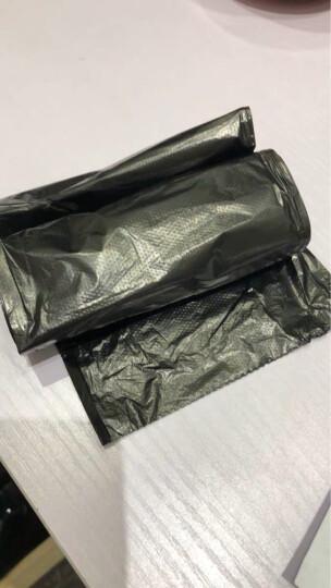蕊之魅 家用办公点断黑色加厚垃圾袋塑料袋 50*60 100只 平口物业袋 晒单图