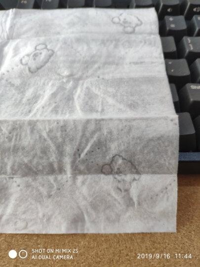 舒洁(Kleenex)湿纸巾 呆萌小熊压花卫生湿巾便携装10片 晒单图