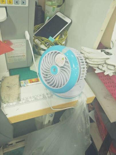 静音制冷喷雾加湿小风扇USB充电风扇迷你便携式学生小风扇桌面加湿器空调风扇美容补水风扇 玫粉红 晒单图