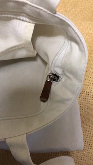 包里名家(sac maitres)印花帆布单肩女包 森系文艺小清新手提包购物袋 FB015白色 晒单图