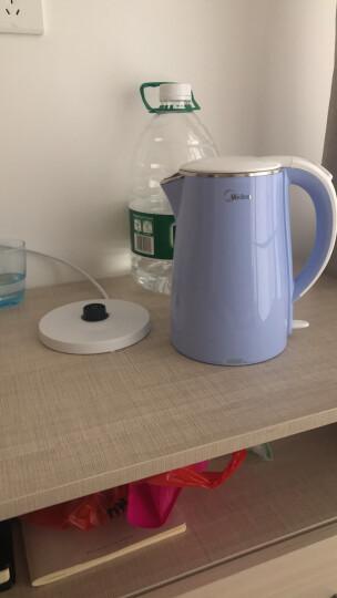 美的(Midea)电水壶热水壶电热水壶304不锈钢1.7L容量双层防烫暖水壶烧水壶开水壶WHJ1705C 晒单图