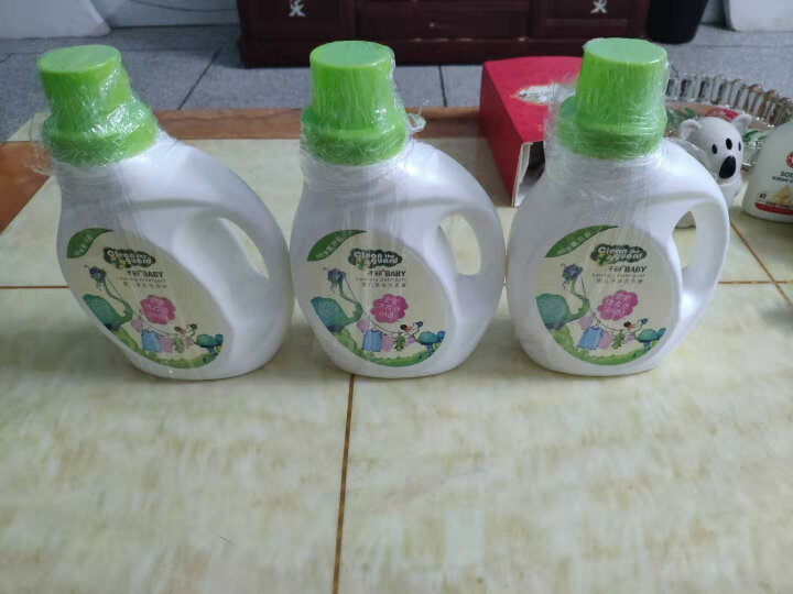 子初婴儿皂液天然草本植萃洗衣液1L*3瓶 宝宝儿童洗衣液新生儿洗护用品 晒单图