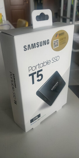 三星(SAMSUNG) 2TB Type-c USB3.1 移动硬盘 固态(PSSD)T5 玄英黑 最大传输速度540MB/s 安全便携 晒单图