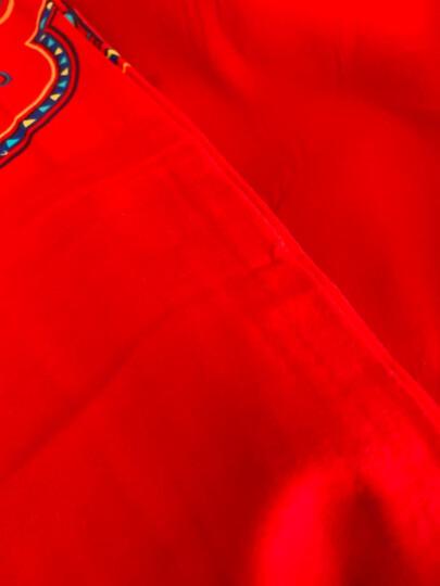 南极人 婚庆磨毛全棉四件套 保暖纯棉大红床品套件 情侣结婚双人被套床单床上用品 邂逅幸福 1.5米床-被套200*230cm 晒单图