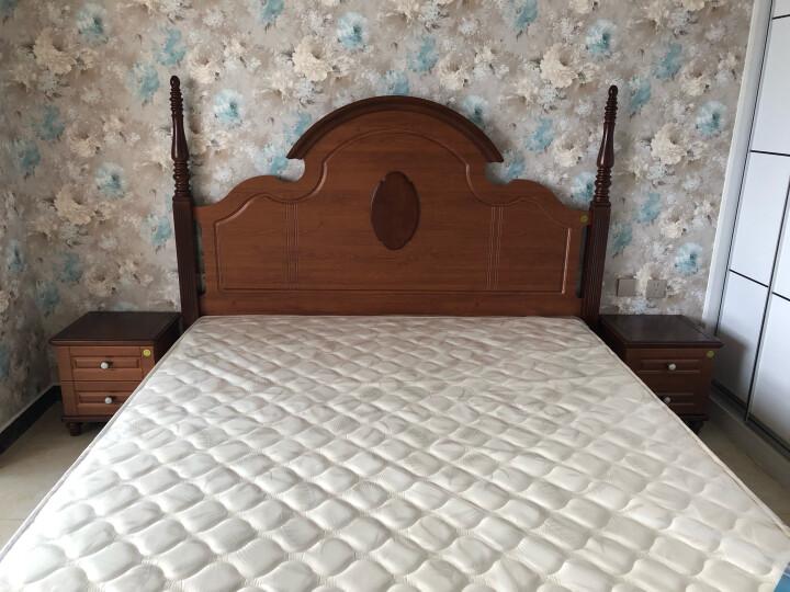 全友 弹簧床垫 全友家私锰钢弹簧椰棕席梦思床垫 护脊椎正反软硬两用双面床垫  105001 1500*2000 晒单图