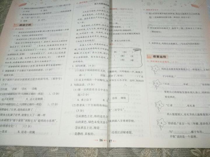2021秋黄冈小状元达标卷3三年级语文上册测试卷期中期末测试卷 R人教版可搭作业本 晒单图