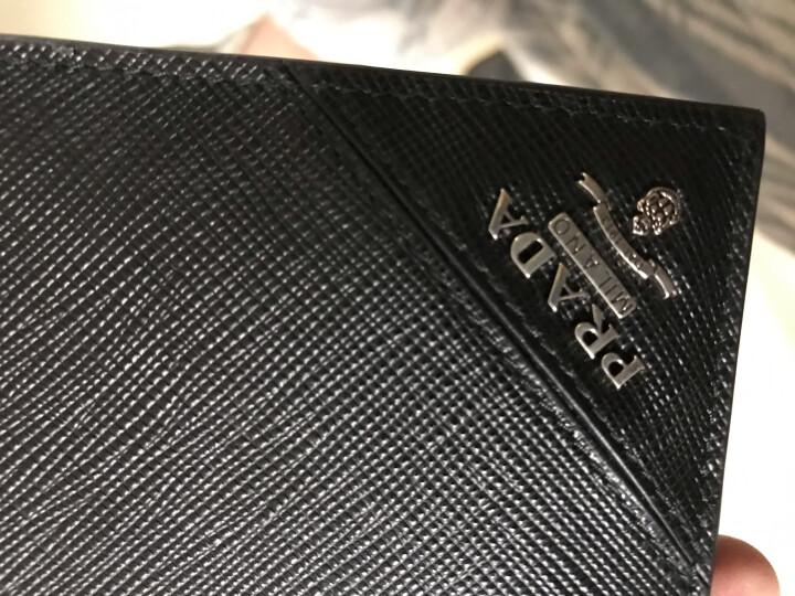 PRADA 普拉达 男女中性黑色牛皮短款钱夹 钱包 证件夹 2MO513 QME F0002 晒单图