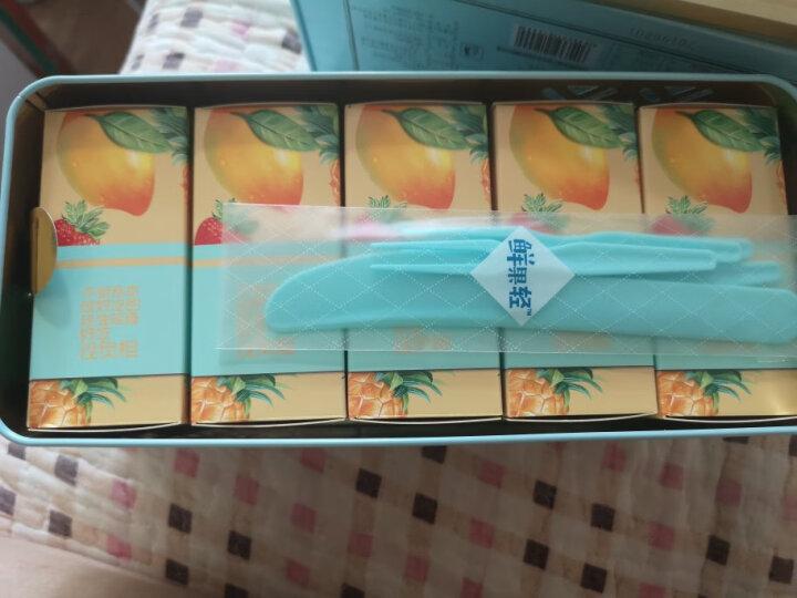 一品粤 水果盒子 鲜果果粒派 苹果火龙果芒果菠萝草莓冻干水果馅多口味水果莲蓉派礼盒300g 5只装 晒单图