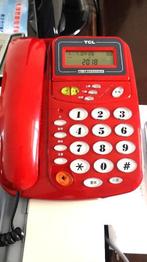 TCL 电话机座机 固定电话 办公家用 来电显示 免电池 座式壁挂 HCD868(17B)TSD (火红色) 晒单图